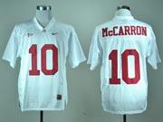 Mens Ncaa Nfl Alabama Crimson #10 Mccarron White Jersey Gz
