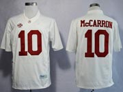 Mens Ncaa Nfl Alabama Crimson #10 Mccarron White Sec Limited Jersey Gz