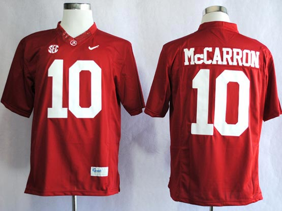 Mens Ncaa Nfl Alabama Crimson #10 Mccarron Red Sec Limited Jersey Gz