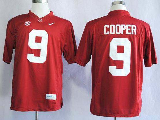 Mens Ncaa Nfl Alabama Crimson #9 Cooper Red Sec Limited Jersey Gz