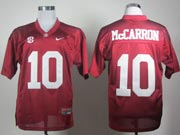 Mens Ncaa Nfl Alabama Crimson #10 Mccarron Red Sec Elite Jersey Gz
