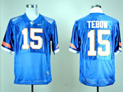 Mens Ncaa Nfl Florida Gators #15 Tebow Blue Elite Fight Jersey Gz