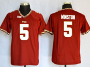 Mens Youth Ncaa Nfl Florida State Seminoles #5 Winston Red (fsu) Jersey Gz