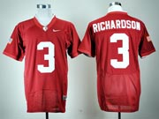 Mens Ncaa Nfl Alabama Crimson #3 Richardson Red Elite Fight Jersey Gz