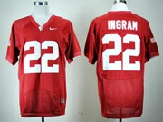 Mens Ncaa Nfl Alabama Crimson #22 Ingram Red Elite Fight Jersey Gz
