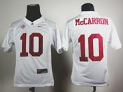 Youth Ncaa Nfl Alabama Crimson #10 Mccarron White Sec Jersey Gz