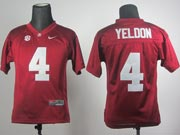 Youth Ncaa Nfl Alabama Crimson #4 Yeldon Red Sec Jersey Gz