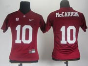 Women Ncaa Nfl Alabama Crimson #10 Mccarron Red Jersey Gz