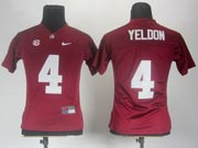 Women Ncaa Nfl Alabama Crimson #4 Yeldon Red Jersey Gz