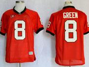 Mens Ncaa Nfl Georgia Bulldogs #8 Green Red Elite Jersey