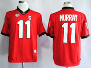 Mens Ncaa Nfl Georgia Bulldogs #11 Aaron Murray Red Sec C Patch Limited Jersey