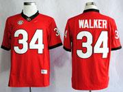 Mens Ncaa Nfl Georgia Bulldogs #34 Walker Red Sec Limited Jersey Gz