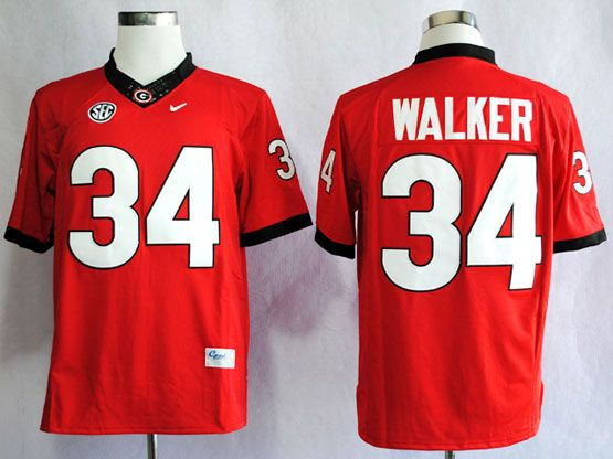Mens Ncaa Nfl Georgia Bulldogs #34 Walker Red Sec Limited Jersey Gz