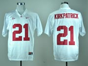 Mens Ncaa Nfl Alabama Crimson #21 Kirkpatrick White Jersey Gz