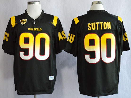 Mens Ncaa Nfl Arizona State Sun Devils #90 Sutton Black (asu) Jersey Gz