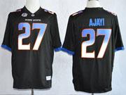 Mens Ncaa Nfl Boise State Broncos #27 Ajayi Black Jersey Gz