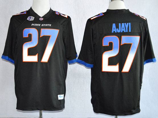 Mens Ncaa Nfl Boise State Broncos #27 Ajayi Black Jersey Gz