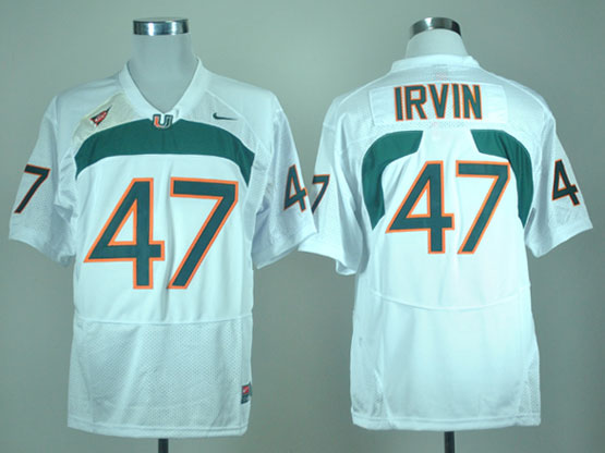 Mens Ncaa Nfl Miami Hurricanes #47 Irvin White Jersey Gz