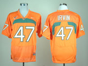 Mens Ncaa Nfl Miami Hurricanes #47 Irvin Orange Jersey Gz