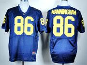 Mens Ncaa Nfl Michigan Wolverines #86 Manningham Blue Jersey