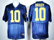 Mens Ncaa Nfl Michigan Wolverines #10 Brady Blue Jersey