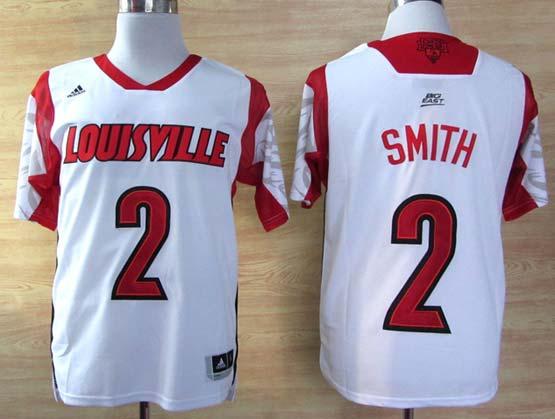 Mens Ncaa Nba Louisville Cardinals #2 Smith White Jersey Gz