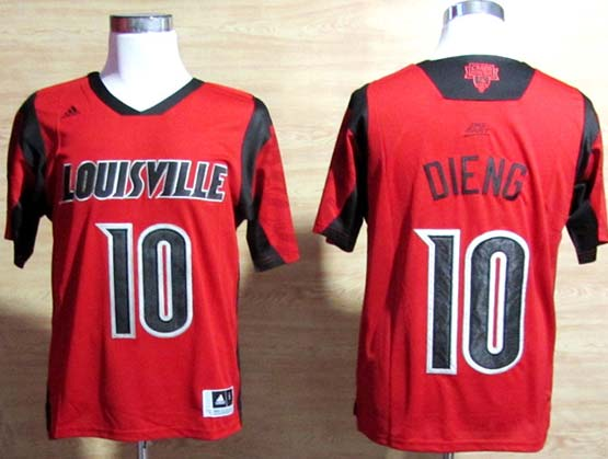 Mens Ncaa Nba Louisville Cardinals #10 Dieng Red Jersey Gz