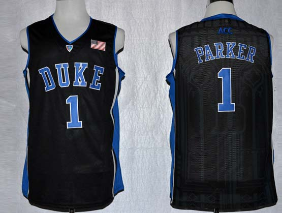 Mens Ncaa Nba Duke Blue Devils #1 Parker Black Jersey Gz