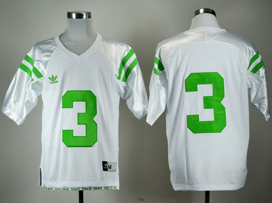 Mens Ncaa Nfl Notre Dame #3 Montana White (green Number) Elite Jersey Gz