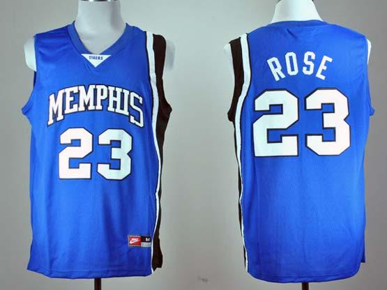 Mens Ncaa Nba Memphis Tigers #23 Rose Blue Jersey Gz
