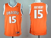 Mens Ncaa Nba Syracuse Orange #15 Anthony Orange Jersey Gz