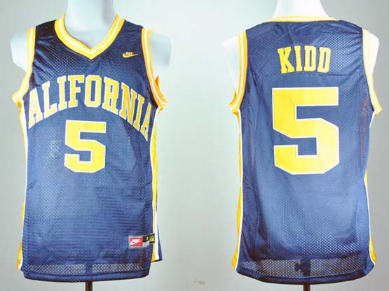 Mens Ncaa Nba California Golden Bears #5 Kidd Blue Jersey Gz