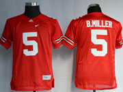 Youth Ncaa Nfl Ohio State Buckeyes #5 B.miller Red Elite Jersey Gz