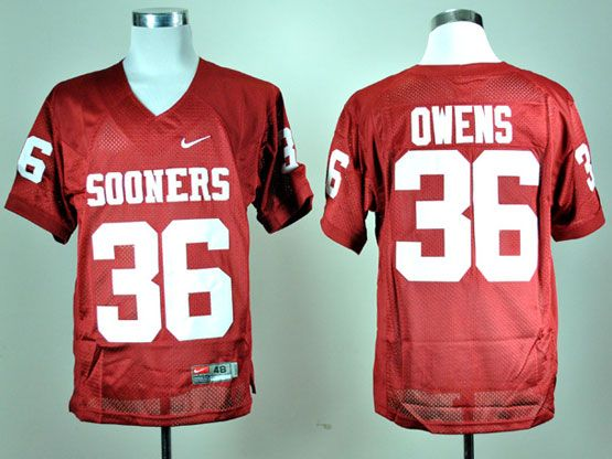 Mens Ncaa Nfl Oklahoma Sooners #36 Owens Red Elite Jersey Gz