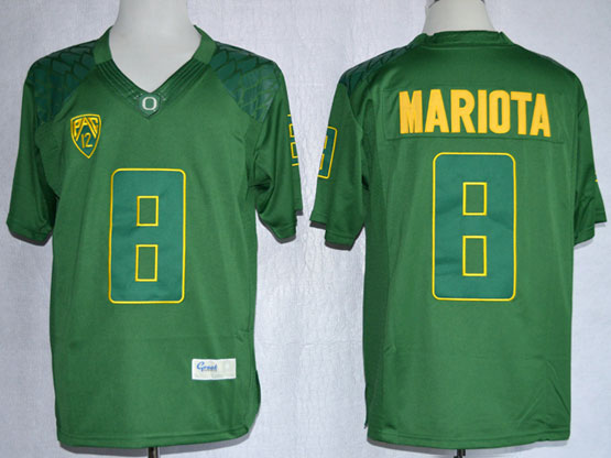 Mens Ncaa Nfl Oregon Ducks #8 Mariota Dark Green Limited Jersey Gz