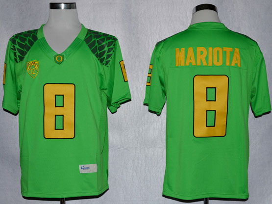 Mens Ncaa Nfl Oregon Ducks #8 Mariota Light Green Limited Jersey Gz