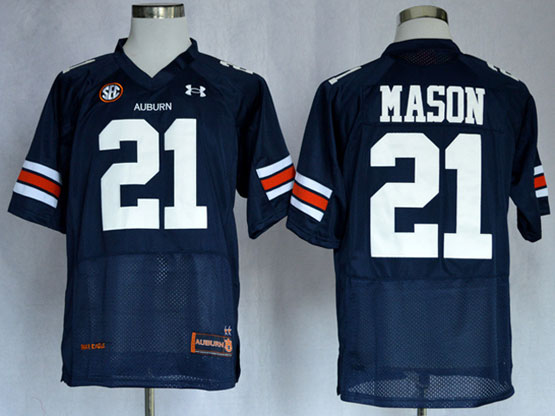 Mens Ncaa Nfl Auburn Tigers #21 Mason Dark Blue Elite Jersey Gz