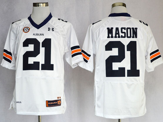 Mens Ncaa Nfl Auburn Tigers #21 Mason White Elite Jersey Gz