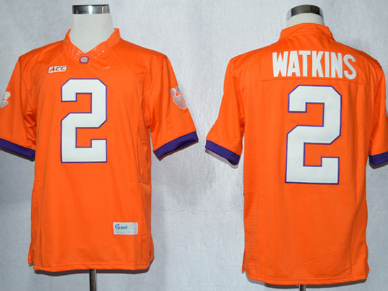 Mens Ncaa Nfl Clemson Tigers #2 Watkins Orange Limited Jersey