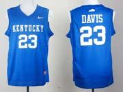 Mens Ncaa Nba Kentucky Wildcats #23 Anthony Davis Blue Jersey Gz