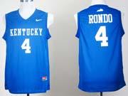 Mens Ncaa Nba Kentucky Wildcats #4 Rajon Rondo Blue Jersey Gz