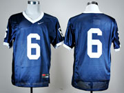 Mens Ncaa Nfl Penn State Nittany Lions #6 Blue Elite Jersey Gz
