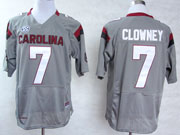 Mens Ncaa Nfl South Carolina Gamecock #7 Clowney Gray (sec) Elite Jersey Gz