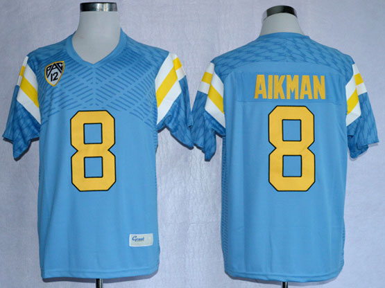 Mens Ncaa Nfl Ucla Bruins #8 Aikman Blue Jersey Gz