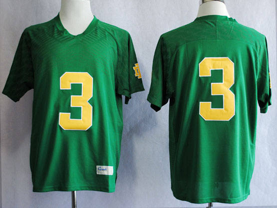Mens Ncaa Nfl Notre Dame #3 Montana Green Jersey Gz