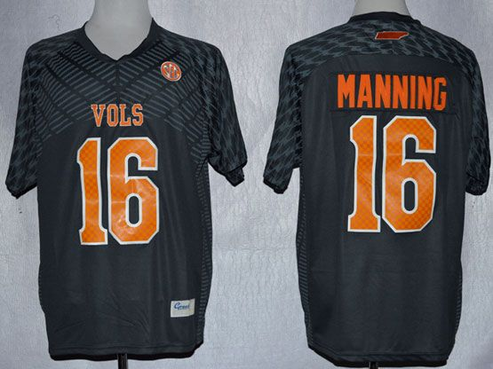 Mens Ncaa Nfl Tennessee Volunteers #16 Manning Gray Jersey Gz