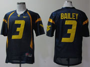 Mens Ncaa Nfl Virginia Mountaineers #3 Bailey Blue Jersey Gz