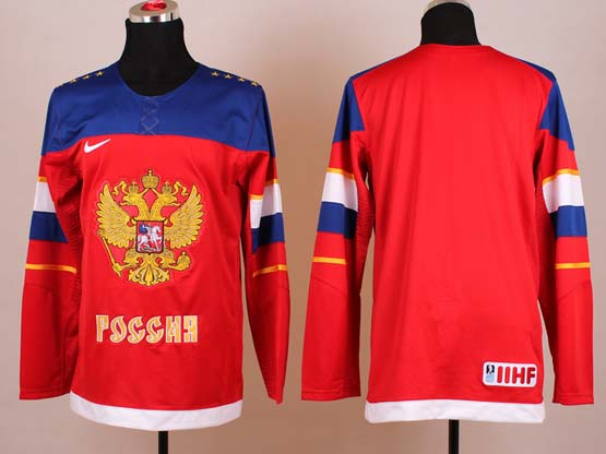 Mens nhl team russia (blank) red (2014 olympics) Jersey