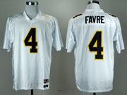 Mens Ncaa Nfl Mississippi Golden Eagles #4 Favre White Jersey Gz