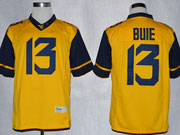 Mens Ncaa Nfl Virginia Mountaineers #13 Bule Yellow Limited Jersey Gz